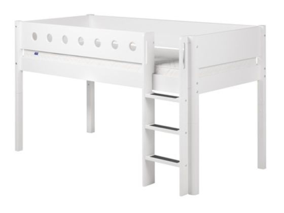 Flexa White Mid-High Bed