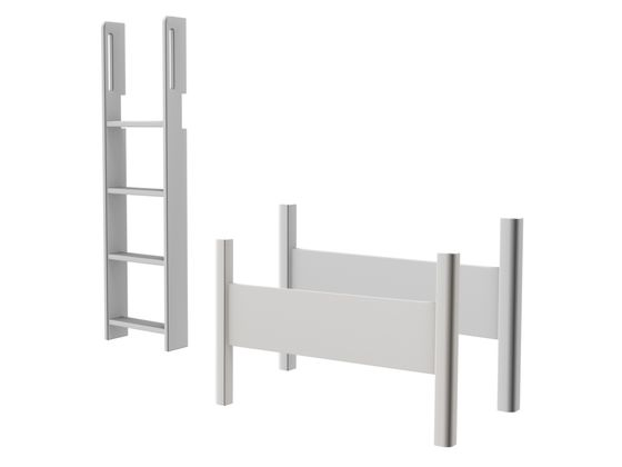 Flexa White Semi-High Bed Conversion Kit