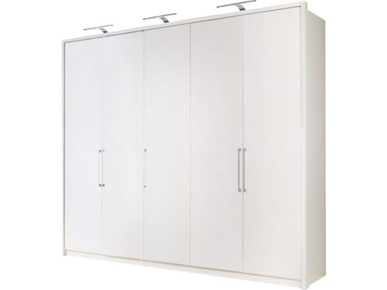 Berlin White 250cm Wardrobe