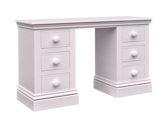 Majestical Double Pedestal Desk/Dressing Table