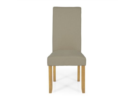 Kingston Oak Fabric Pair Dining Chairs Natural