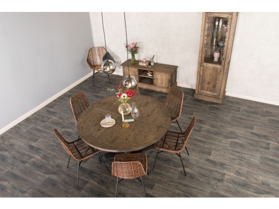 Ancona Mocca Ash Round Table 130cm