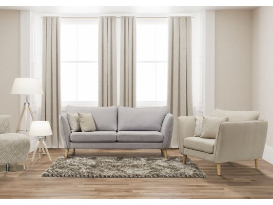 Stella 3 Seater Sofa Grey