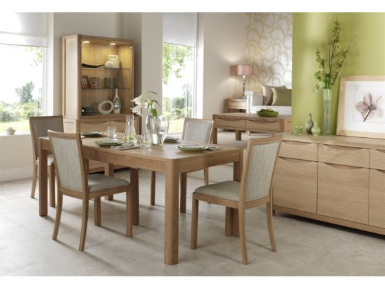 Stockholm 90cm Small Extending Dining Table