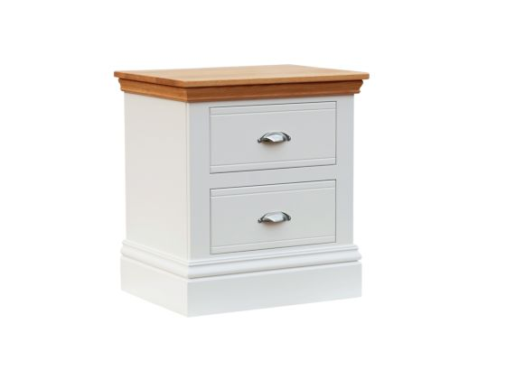 New England Large 2 Drawer Bedside