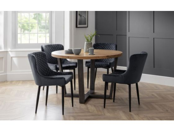 Lux Grey Velvet Dining Chair