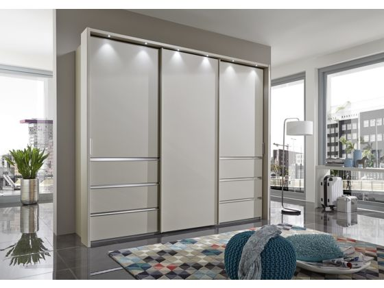 Malibu 250cm Wardrobe with Drawers