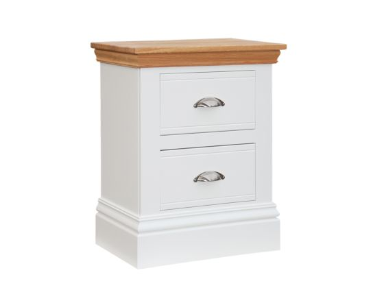 New England Small 2 Drawer Bedside