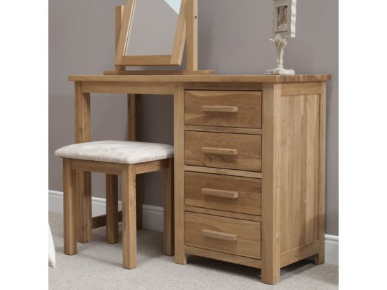 Opus Oak Single Dressing Table with Stool