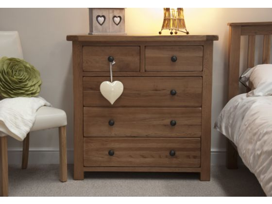 Rustic 3+2 Drawer Chest