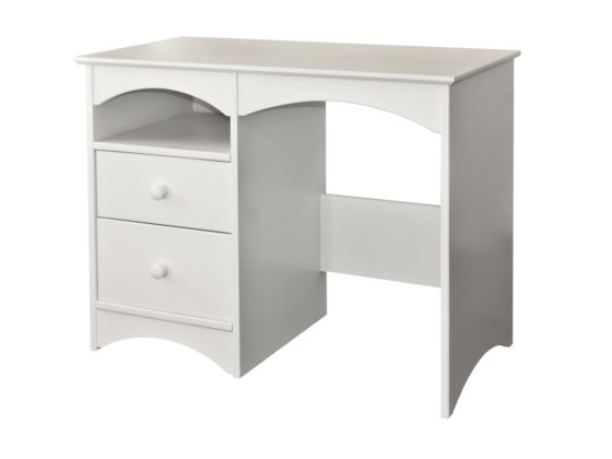 Elfin Single Pedestal 2 Drawer 1 Shelf Desk/Dressing Table