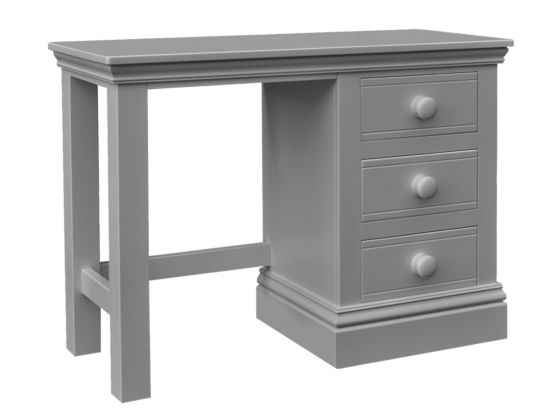 Majestical Single Pedestal Desk/Dressing Table