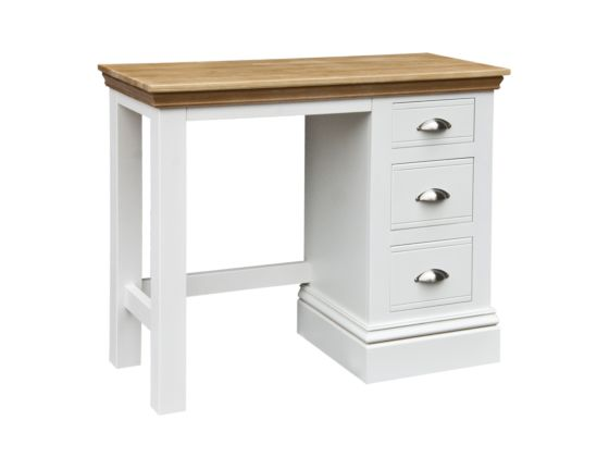 New England Single Pedestal Dressing Table