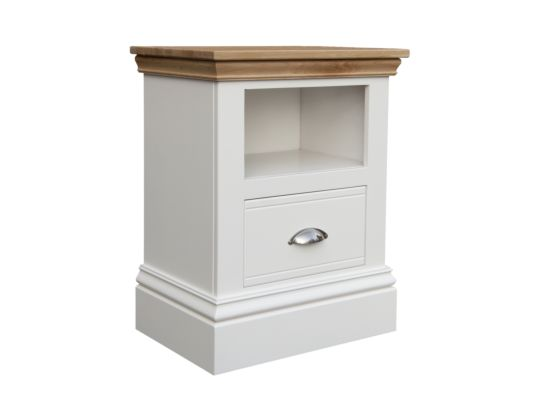 New England Drawer and Shelf Bedside Table