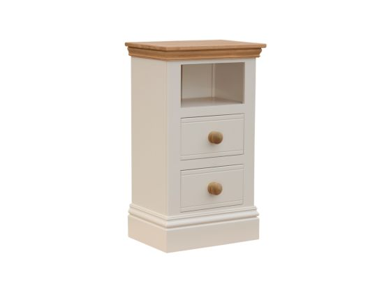 New England 2 Drawer and Shelf Bedside Table