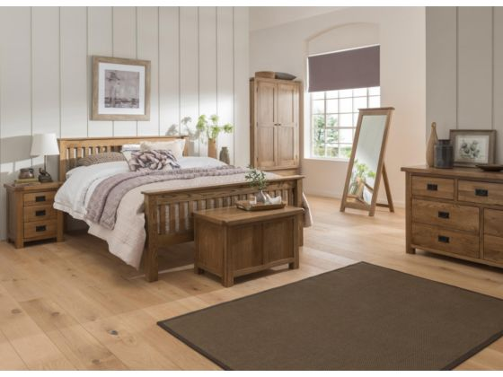 Rustique Oak Bedframe Low Foot End