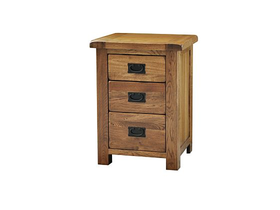 Rustique 3 Drawer High Bedside