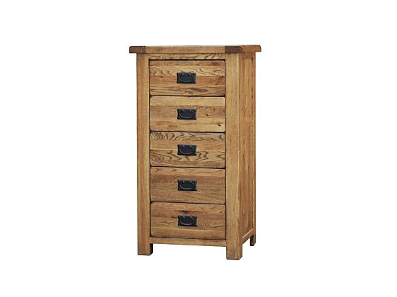 Rustique 5 Drawer Wellington Chest