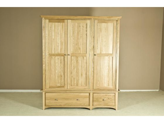 Turin Oak Triple Wardrobe