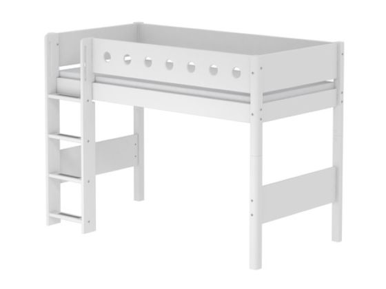 Flexa White Semi-high Bed