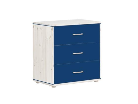 Flexa 3 Drawer Whitewash Chest